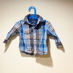 Boys button up plaid shirt